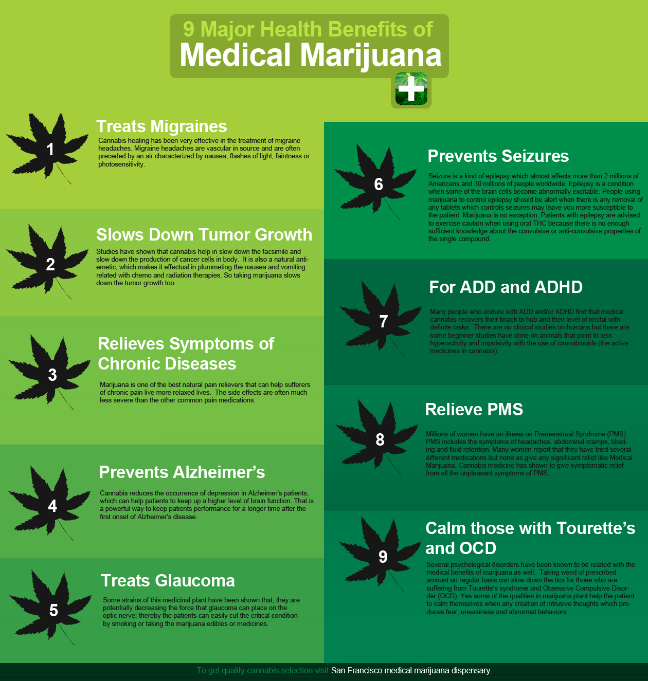 the benefits of the medicinal cannabis plant The health benefits of cannabis leaves to treat glaucoma have been researched several times and this is the best new invention for the glaucoma treatment according to the national eye institute, cannabis leaves can decrease the pressure of eyeball, slowing the progression of the disease, and preventing blindness.